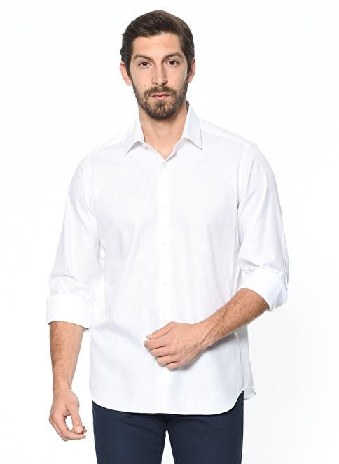 Daffari Slim Fit Gömlek Beyaz